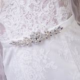 Mermaid Long Sleeve Wedding Dresses Beach Lace Wedding Gown with Bling Beaded Sash