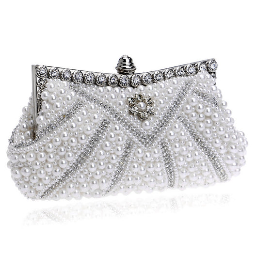 Crystal Beaded Bridal Evening Hand Bags Handmade Diamond crystal   Wedding/Party/Evening bag