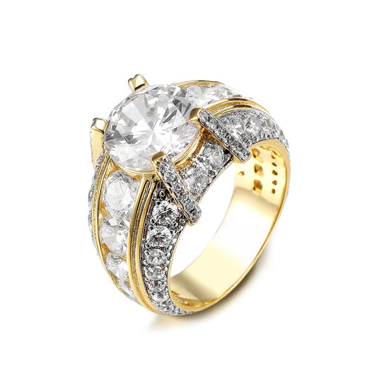 Zircon Wedding/Engagement Ring For Men and Women Gold/Silver Color