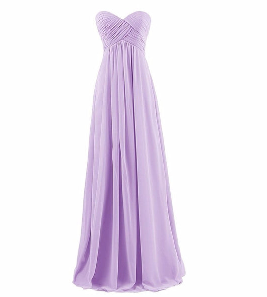 Ball Gown Strapless Long bridesmaids dresses wedding party gown