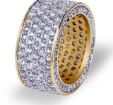 Zircon Round Wedding /engagement  Ring Full Iced Out Bling wedding ring for men