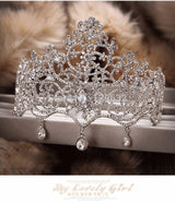 Crystal bridal head crown Bling Bridal tiara wedding hair accessories