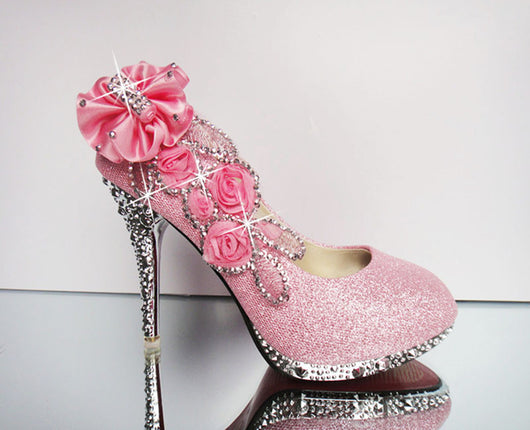 3dfa069eda3a ... Wedding Shoes Rhinestone Glitter Shoes at Bling Bries Bouquet - online  bridal store ...