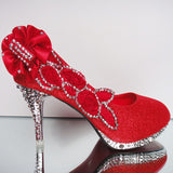 Wedding Shoes Rhinestone Glitter Shoes at Bling Bries Bouquet - online bridal store