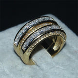 20ct Cz Wedding ring 14KT yellow Gold Filled 3-in-1 Engagement Wedding Band Ring Set