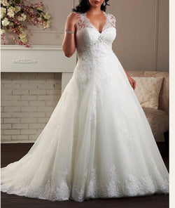 A Line Custom Made Maternity Bridal Gown at Bling Brides Bouquet - Online bridal store