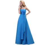 Chiffon  strapless corset bridesmaid dress At Bling Brides Bouquet - Online Bridal Store