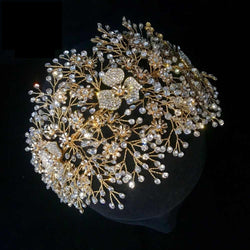 Crystal Silver/Golden Bridal Tiara Rhinestone Princess Wedding  Crown