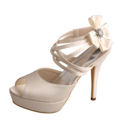 Bling Bridal Ivory Shoes Weddingl Heels at Bling Brides Bouquet