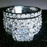Silver Wedding Ring set  – Bling Brides Bouquet - Online Bridal Store