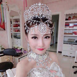 Bridal Wedding Rhinestone Tiara set at Bling Brides Bouquet online bridal store