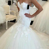 Mermaid lace Wedding Dress  at Bling Brides Bouquet online Bridal Store