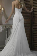 Pleat Chiffon Beach Wedding Dresses at Bling Brides Bouquet - Online Bridal Store
