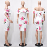 Floral Print Party Club Sexy Dresses  at Bling Brides Bouquet Online bridal store