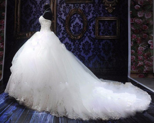 Wedding Gowns With Bling: Plus Sized Beaded Ball Gown Wedding Dress At Bling Brides