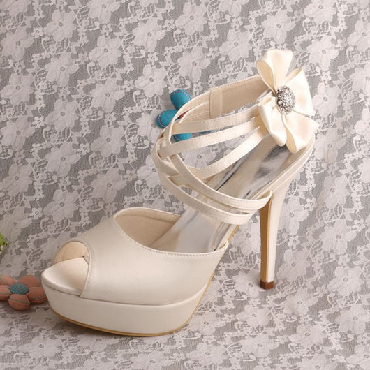 ... Wedding Shoes Criss Cross Ankle Strap Bridal Heels At Bling Brides  Bouquet ...