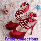 Wedding Shoes Criss cross Ankle Strap Bridal Heels at Bling Brides Bouquet