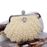 Womens Party Luxury Handbag  Women Bags Designer Pearl Evening Clutch