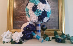 Bling brides custom made nineteen piece bridal bouquet set