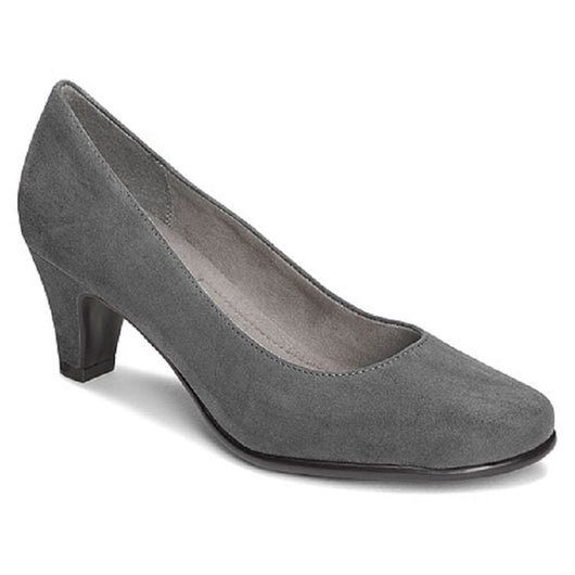 Womens Vintage Grey  Suede pumps, A2 by Aerosoles Size 9.5 Medium