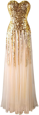 Golden lace up Bridesmaid/ Prom Dress at Bling Brides Bouquet online Bridal Store