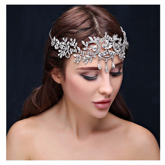 Crystal Tiara Hair Jewelry  at Bling Brides Bouquet online Bridal Store
