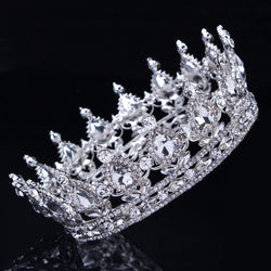 Bling Bridal  Peacock Crystal Tiara Wedding Crown, Bridal Rhinestone Pageant Crown