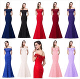 Mermaid Lace Evening Dresses at Bling Brides Bouquet online Bridal Store