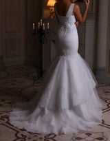Tiered Mermaid Wedding Dresses at Bling Brides Bouquet online Bridal Store