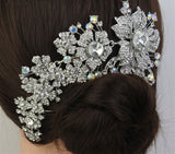 Bling Brides Tiara Wedding Hair Comb Bridal Accessories Rhinestone Tiara, with bling Crystals