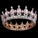 Bling Bridal Peacock Crystal Tiara Wedding Crown Bridal Rhinestone Pageant Queen King Crown