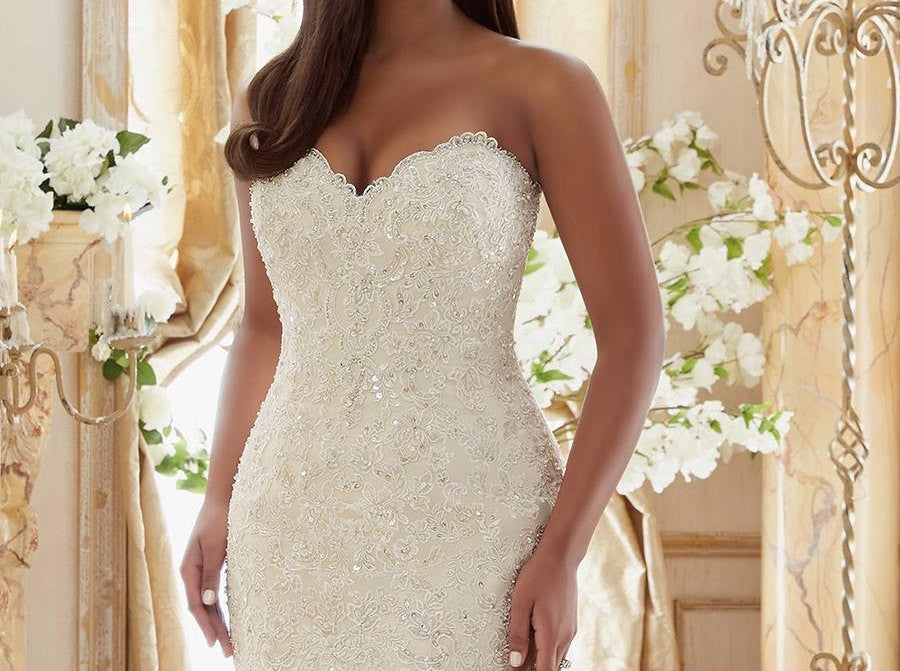 Wedding Gowns With Bling: Lace Ruffled Plus Size Wedding Dresses At Bling Brides