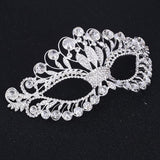Bling Brides Princess Silver Venetian Masquerade Mask Party Wedding engagement Masks