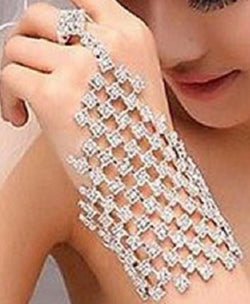 Crystal Hand Jewelry  at Bling Brides Bouquet online Bridal Store
