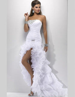 High Low Wedding Prom Gown  at Bling Brides Bouquet online Bridal Store