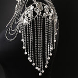 Bling Brides Gorgeous  bling crystal Rhinestone shoulder chain, Wedding Bridal Choker Jewelry
