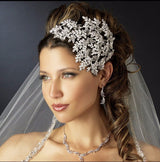 Crystal headband silver Wedding Tiara  at Bling Brides Bouquet online Bridal Store