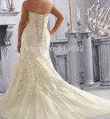 Sweetheart Lace Up Back Wedding Bridal Dress  at Bling Brides Bouquet online Bridal Store
