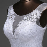 Lace floral mermaid Wedding Dress at Bling Brides Bouquet Online Bridal Store