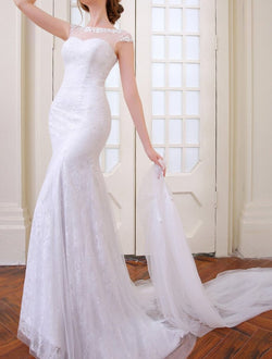 Elegant sexy Mermaid Wedding dress with removable skirt at Bling Brides Bouquet