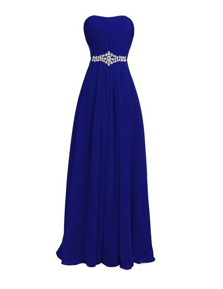 Evening  party prom dress with bling crystal waist and lace up back