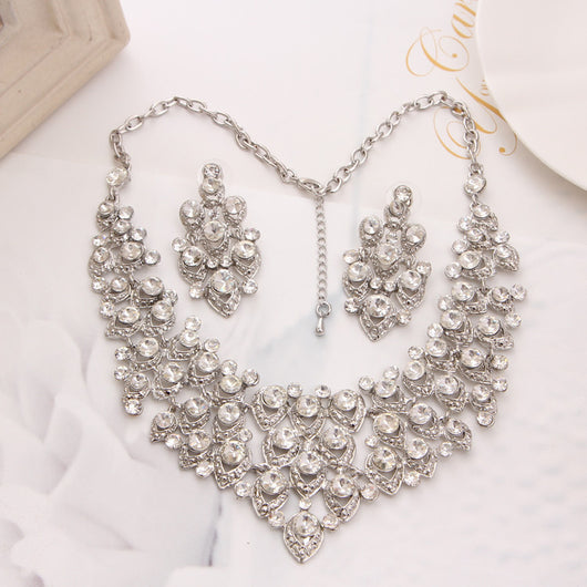 Gorgeous crystal necklace and earrings set at Bling Brides Bouquet - Online Bridal Store