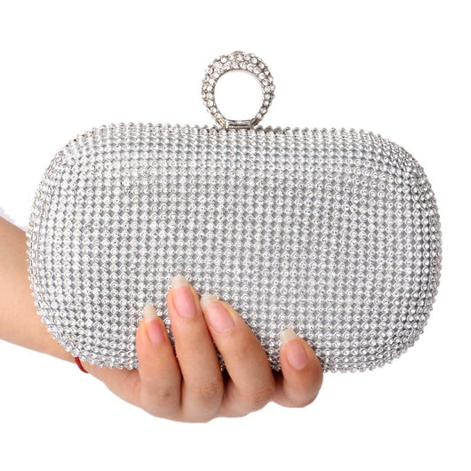 Bridal Evening bag with diamonds women's rhinestone banquet handbag day clutch