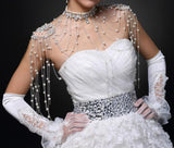 Bling  Bridal Shoulder Chain Crystal  Necklace Wedding Bridal Jewelry