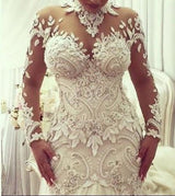 High-Neck Mermaid Wedding Dresses Bridal Gowns Bridal Dress