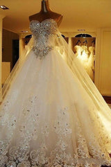 Crystal Wedding Dress Bridal gown with corset back at Bling Brides Bouquet