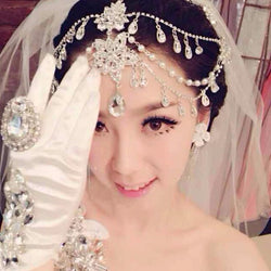 Bridal tiara  Crystal hairband three piece wedding hair accessories
