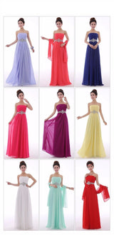 Crystal Chiffon Bridesmaid Evening Dresses at Bling Brides Bouquet online Bridal Store