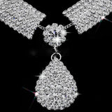 Wedding Prom Bridal Jewelry Sets Rhinestone Wedding Necklace Earrings Bracelet Sets Accessories