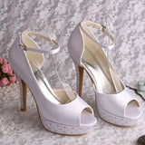 Bling Bridal Sandals Ankle Strap Bridal Heels
